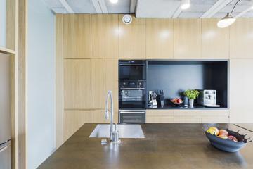 Modern apartment's kitchen with avantgarde decor