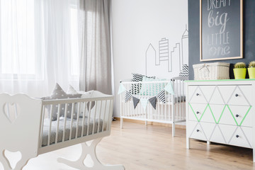 Newborn baby room interior