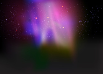 Beautiful aurora abstract nature background