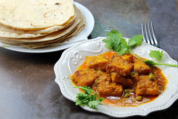 Paneer butter masala with chapati