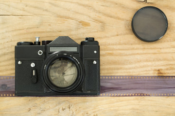 Old Camera and Film strip