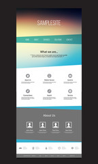 One Page Website Template with Unique Design