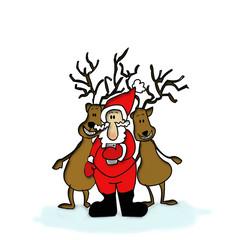 Babbo Natale e renne
