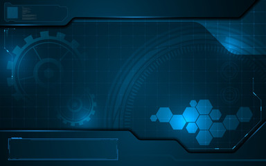abstract technology interactive icon on digital pattern innovation concept background
