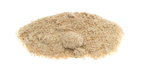 Stone ground whole wheat muffin mix on a white background.