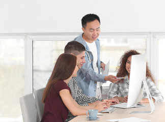 Group of people working in office