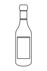 flat design liquor bottle icon vector illustration