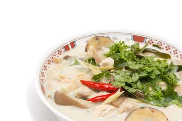 Closeup Galangal Chicken Soup