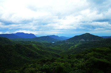 Landscape of mountain in Petchaboon province,Thailand, Selective focus.