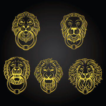 Lion Head Knocked Door