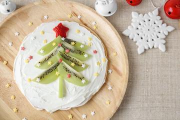 Fun homemade christmas tree pancake breakfast for kids