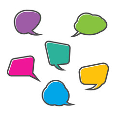 Speech bubbles with various shapes