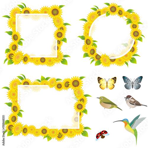 set of sunflower frames - Sunflower Picture Frames