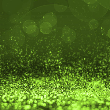 Abstract lime green glitter perspective to blank background,Stud
