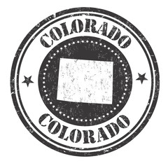 Colorado sign or stamp