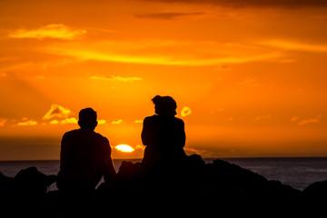 Sun Setting on the Ocean