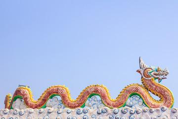 Dragon in blue sky