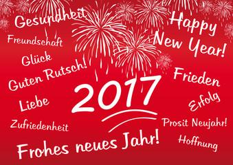 für Neujahrswünsche 2017