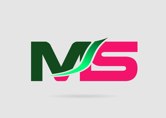 Letter M and S logo vector