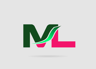 Letter M and L logo vector