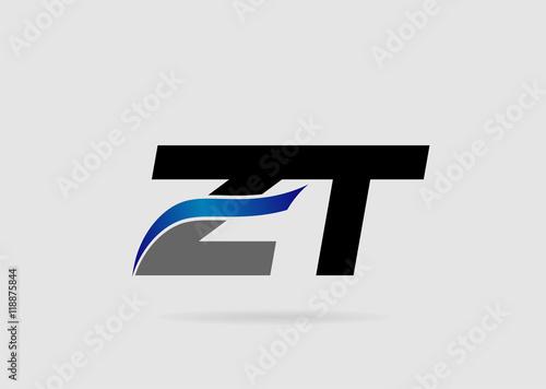 Letter ZT Logo