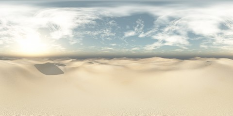 sandy desert. Environment map. HDRI map. Equirectangular projection. Spherical panorama. landscape