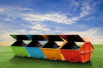Colorful Industrial Waste Bin (dumpster) for municipal waste