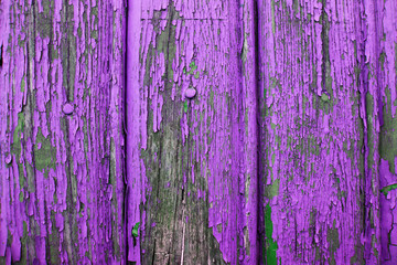 Background image. Old purple paint on a wooden surface.