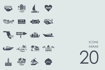 Set of Miami icons