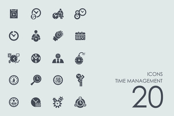 Set of time management icons