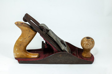 Carpenters Wood Plane on the white background
