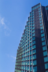 Blue skyscraper and a sky