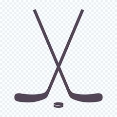 Crossed Ice Hockey sticks