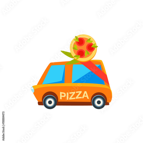 Toy Pizza Delivery Car 77