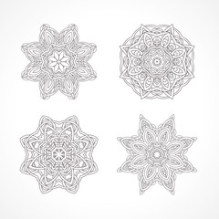 Mandala. Ethnic decorative elements Indian, Islam, arabic motifs