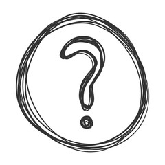 Vector Sketch Question Mark in the Circle