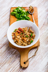Risotto with chanterelles and fresh parsley