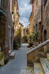 Abandoned nooks miraculously beautiful town in Tuscany.