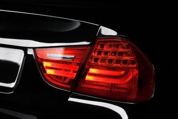 Back light lamp of black modern car