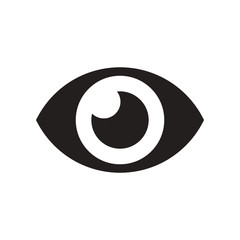 flat icon in black and white style human eye