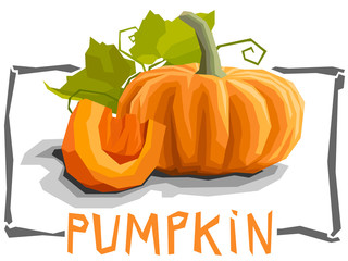 Vector simple illustration of pumpkin.