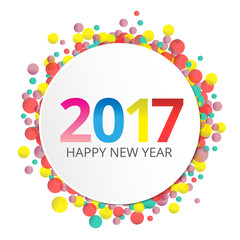 Happy New Year 2017 label
