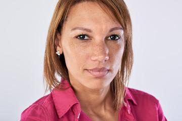 Mixed race woman portrait in studio