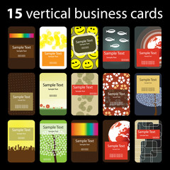 15 Colorful Vertical Business Cards