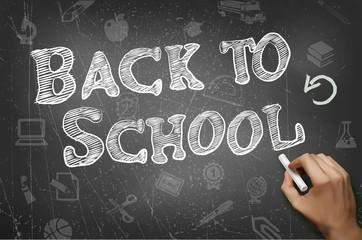 School black board, vector illustration.