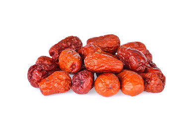 red date,chinese jujube on white background