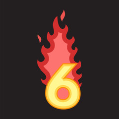Flaming Number six