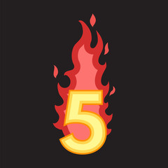 Flaming Number five