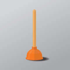 Rubber plunger vector flat design.