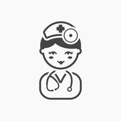 Doctor black icon. Illustration for web and mobile design.